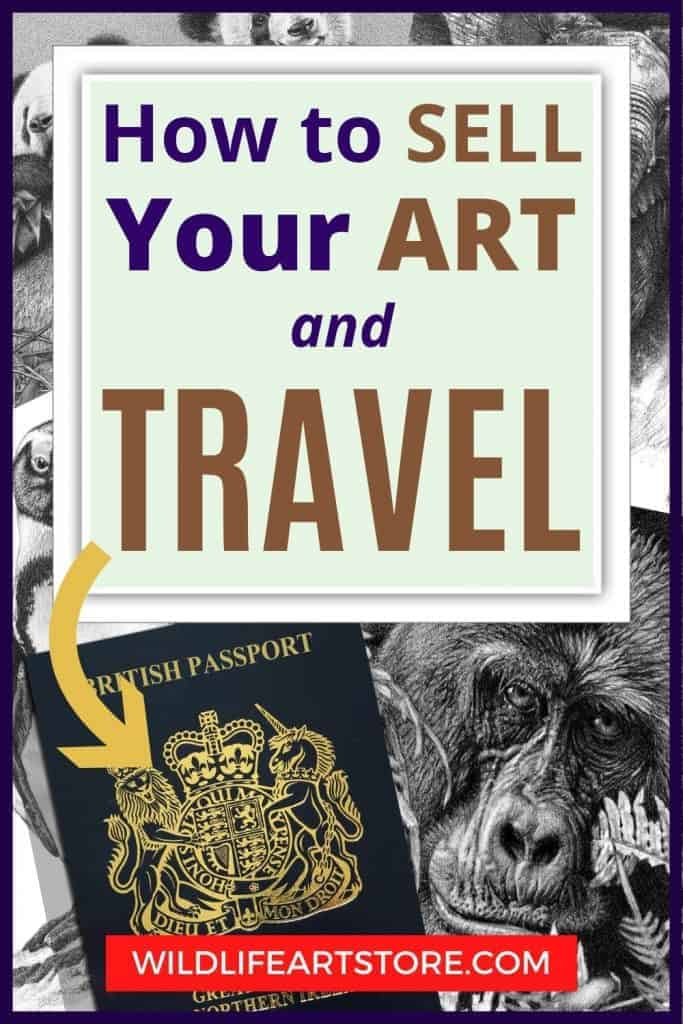 The wildlife art of Kevin Hayler How to sell your art and travel for Pinterest